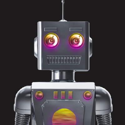 Robert Nest, alias Ernest le Robot de Talents Nest, l'agence digitale des jeunes talents